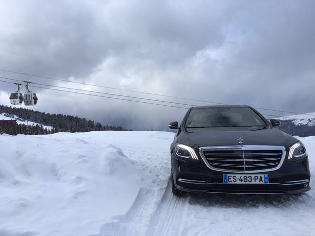 mercedes class s limousine neige